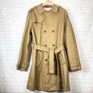 Anthropologie Trovata Tan Belted Trench Coat XL